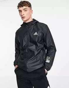 Черная куртка на молнии с капюшоном adidas Training Sportforia