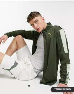 Куртка на молнии цвета хаки Puma Training Favorite