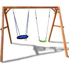 """Подвесные качели-кресло в подарок при покупке детских качелей """"Красная звезда"""""""