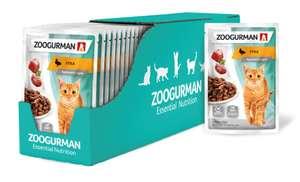 Влажный корм для стерилизованных кошек Зоогурман с уткой, гипоаллергенный 30 шт. х 85 г (кусочки в соусе) в приложении