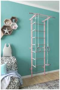 Шведская стенка Формула здоровья Pastel 2, розовый/серый 4.6
