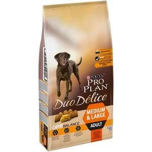 Сухой корм для собак Pro Plan Duo Delice, говядина 10 кг (для средних и крупных пород)