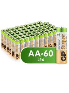 Батарейки пальчиковые (АА) GP Super Alkaline 60шт.