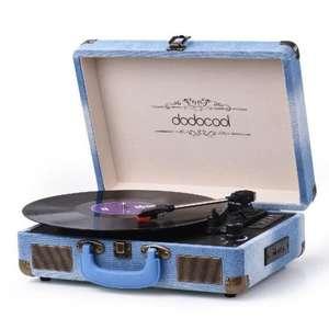 Dodocool 3-полосный проигрыватель со стереофоническим проигрывателем со встроенным динамиком за 61.29$