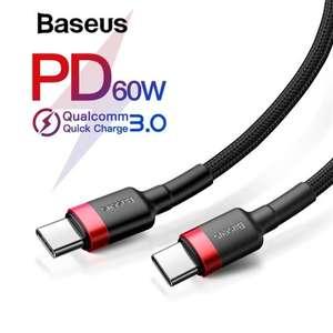 Кабель USB Baseus PD 2.0 60W Type-c и Type-c, QC 3.0 за 2,69$