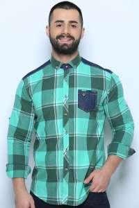 Мужская рубашка с одним карманом