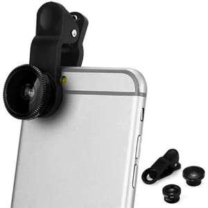 Объектив-прищепка 3в1 для смартфона
