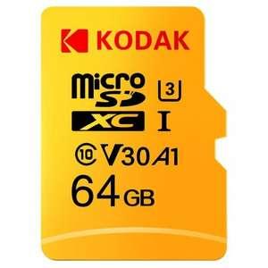 Флеш карта Kodak на 64 ГБ за 9.99$