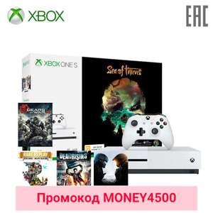Xbox One S 1 Тб + 5 игр