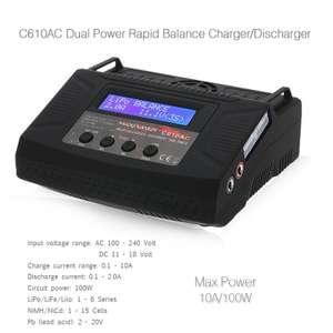 Универсальное зарядное устройство C610AC 10A 100W. Цена $31.99
