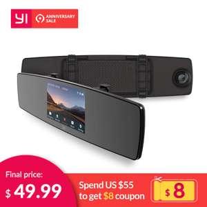 Видеорегистратор Yi Mirror Dash Camera за $46.99