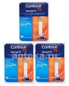 Тест-полоски для глюкометра КОНТУР ТС (Contour TS) N50х3