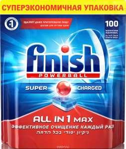 Скидки на средства для мытья посуды на Ozon (напр. Finish Powerball 100 шт 990Р)