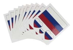 Тату-наклейки с флагом России за 1 рубль