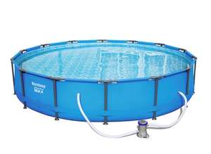 Каркасный бассейн Steel Pro Max с насосом [427 х 84 см, 10220л]