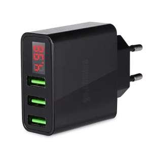 Зарядное устройство Gocomma с 3 USB портами и отображением напряжения за $5.9