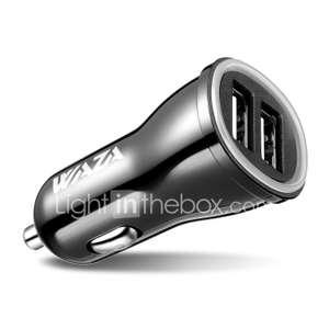 Автомобильная зарядка Waza на 2 USB порта 5V 4.8A