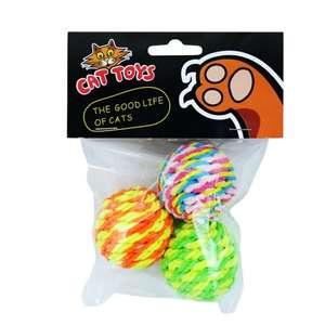 Шарики 3 шт для игр кошек Tiantianmao Cat Toy за  0.99$