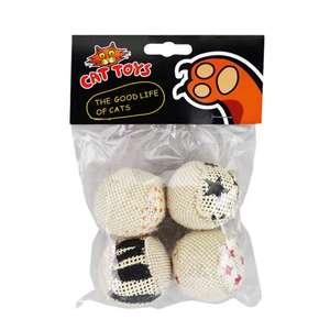 Тряпичные шарики Tiantian Cat 4 шт наполнитель песок за 0.99$