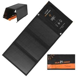 Складное зарядное устройство от солнца на 21W за 33.99$