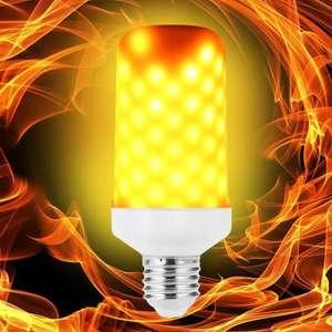 LED лампа E27 с анимацией огня за $3.9