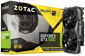 Видеокарта ZOTAC GeForce GTX 1060 AMP! Edition 6GB 6.0 GB OC Mid Range