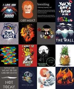 Каждая вторая футболка в подарок на Qwertee