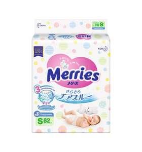 Подгузники Merries S, 82 шт, 4-8 кг