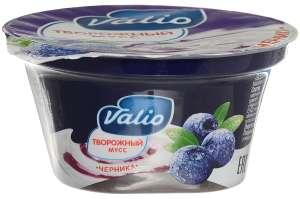 Valio Мусс творожный с черникой, 4%, 110 г