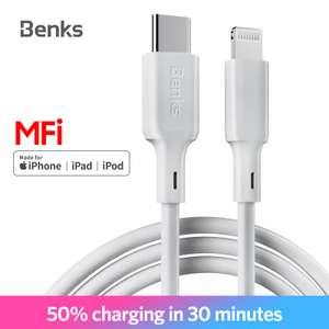 USB кабель Lightning Benks M13 MFi PD + зарядное устройство Benks PD 18W. Цена 16.94$