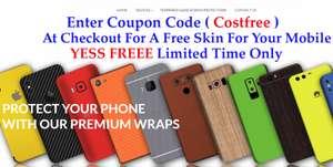 Бесплатная виниловая наклейка-чехол на телефон, планшет или игровую консоль