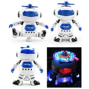 Светящийся танцующий робот на батарейках