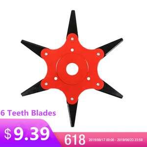 Металлический 6 лопастный нож для триммера и газонокосилки за $9.17