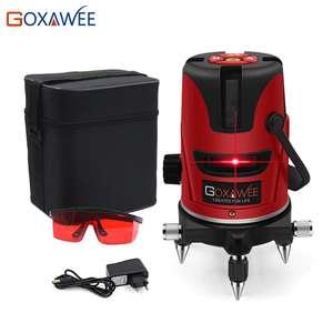 GOXAWEE красный лазерный уровень 360 градусов.US $28.69