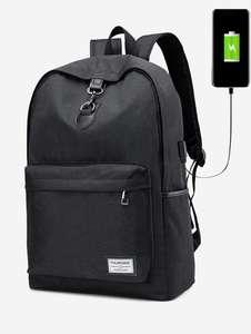 Черный рюкзак с выводом для подзарядки