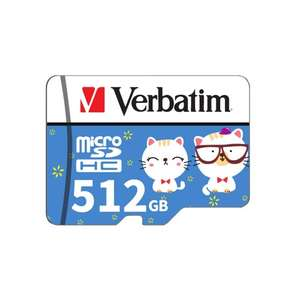 Verbatim Micro SD Card Class10 TF Card 512GB US$ 10.34