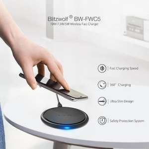 Беспроводное зарядное устройство BlitzWolf BW-FWC5. Цена 883 рубля