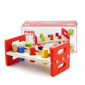 Деревянная игрушка «Молоток и колышки»