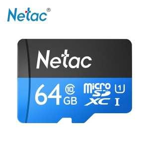 Карта памяти Micro SDXC Netac P500 Class 10 64GB за 8.59$