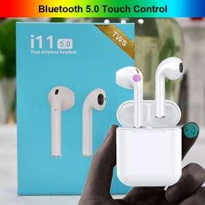 Беспроводная Bluetooth-гарнитура с сенсорным управлением I11 TWS за 8.99$