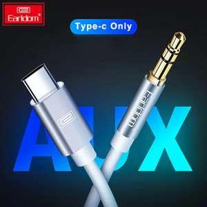 Aux кабель для девайсов с Type C за $2.99