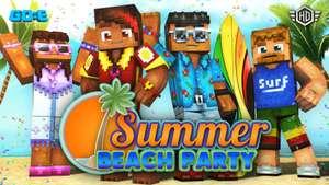 "Minecraft Bedrock Edition - ""Summer Beach Party"" Skin Pack бесплатно для всех платформ"
