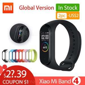 Xiaomi mi Band 4 + дополнительный браслет + защитное стекло.