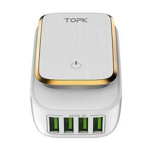 USB-адаптер зарядного устройства TOPK L-Power 4-Port 4.4A