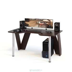 Компьютерный стол СОКОЛ КСТ-116 Венге/Белый