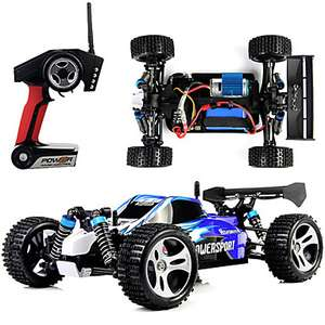 RC WL Toys A959 2.4G 4WD High Speed Drift Off Road  Buggy 1:18 Brush Electric 45 KM/H за 39.99$