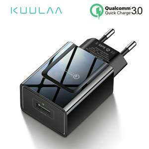 Зарядное устройство KUULAA на 18W с поддержкой QC 3.0