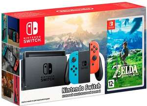 Nintendo Switch красный/синий + The Legend of Zelda: Breath of the Wild