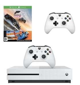 Xbox One S 500 Гб + второй геймпад + Forza Horizon 3 с DLC