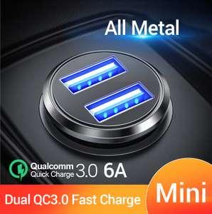 Автомобильное зарядное FIVI QC 3.0 с 2-мя USB за 1.89$